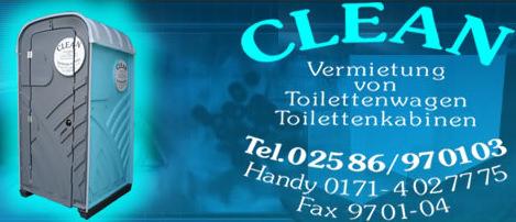 Logo vonCLEAN Toilettenvermietung